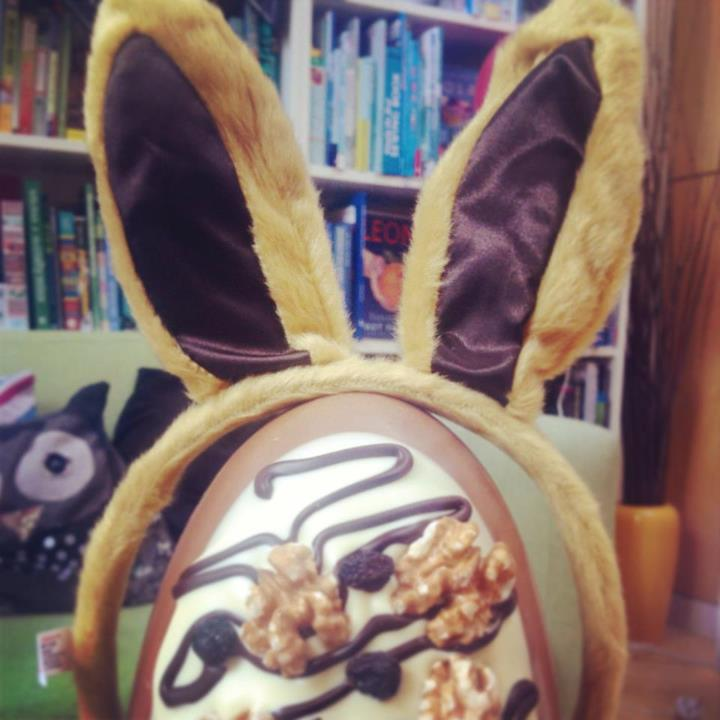 Chocolate for breakfast + getting to wear rabbit ears = best day ever!
