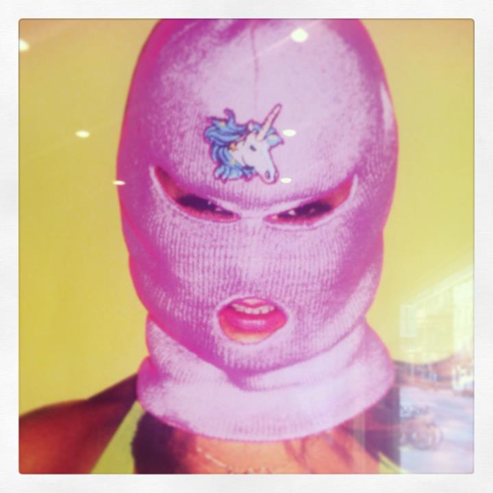 Going to see Spring Breakers. I want a pink balaclava with a unicorn on!