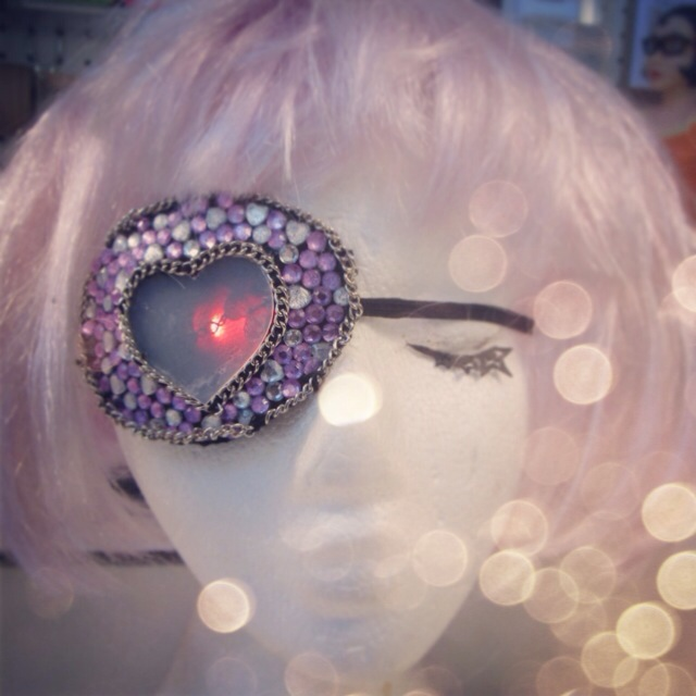 It's not every day that I get asked to make a bejewelled light-up eyepatch for the host of a Japanese travel show!