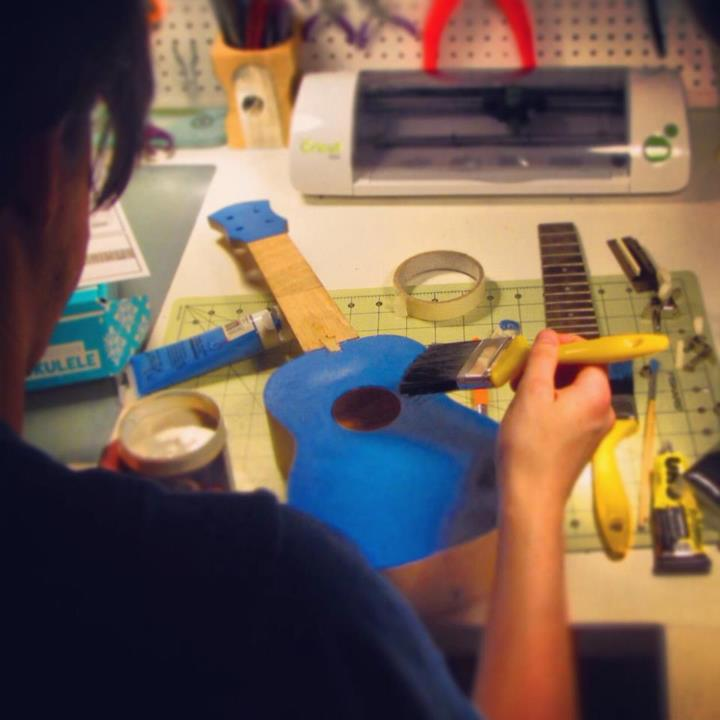 Tom's making his own ukulele - what a rockstar crafter!