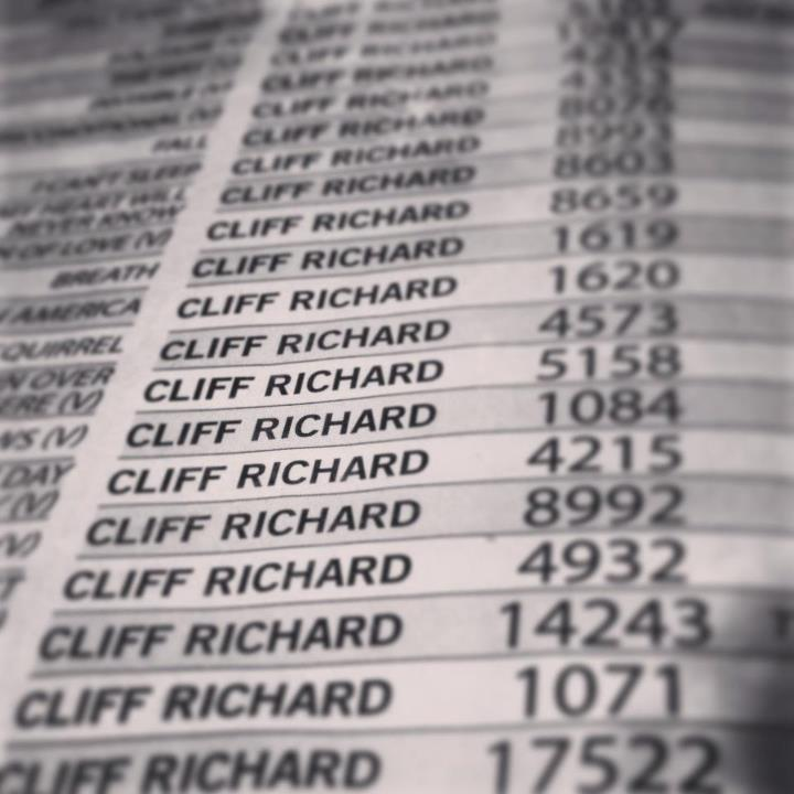 There were a lot of Cliff Richard songs at karaoke last night!
