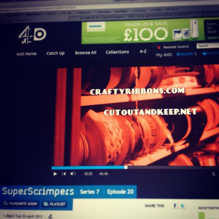 Yay, we were just featured on Super Scrimpers on Channel 4. It's fun being As Seen On TV!