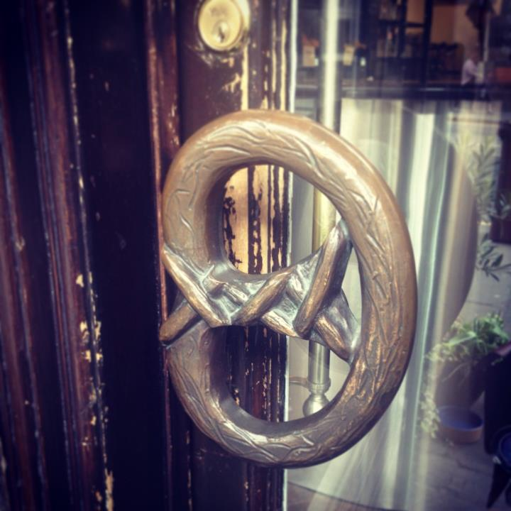 I love their pretzel door handle