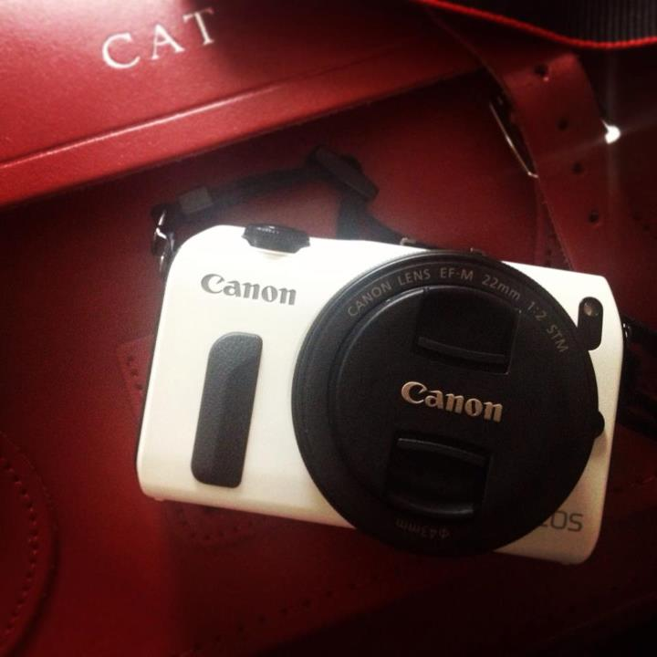 "After mornings of asking the postman ""where's my spy camera?"", my EOS M has finally arrived!"