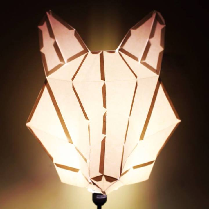 Finally hacked our fox chandelier in to a lamp and it looks so awesome!
